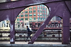 In a haste (unvirtual) Tags: street bridge chicago moving