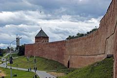 Novgorod Kremlin (arthur_streltsov) Tags: city travel sky urban tower castles wall clouds landscape russia fort sony middleages kremlin fortresses novgorod a290 sonyalpha velikiynovgorod sonylens novgorodkremlin novgorodthegreat russiannorth sonykit sony1855 sonya290 sonyflickraward mainlycloudy gospodinvelikiynovgorod