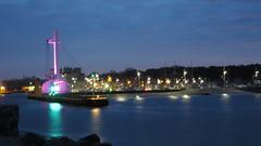 West docks and light of pillar (navarrodave80) Tags: light west colour night dock harbour pillar poland ustka