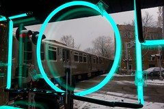L.O. (KevinIrvineChi) Tags: railroad morning snow chicago hot reflection ice window train out t grey francisco neon december day crossing cta gbrearview o snowy side north gray traintracks snowstorm tracks grade reflected h storefront l redeye chilly neonsign icy snowfall manor gapersblock snowcovered precipitation toh fallingsnow chicagoist hotbar ravenswoodmanor ctaredline ctabrownline movingtrains rapidrail ctatrain chiberia bakermiller