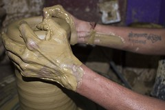 Potter's hand (KOPAL GOEL) Tags: clay pottery dailylife flicker clayart canonusa isaiah648 potterslife potterart