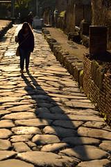 Shadow of the Past (JDWCurtis) Tags: street shadow italy history ancienthistory ruins roman sister naples herculaneum romanruins ancientstreet ruinsroman