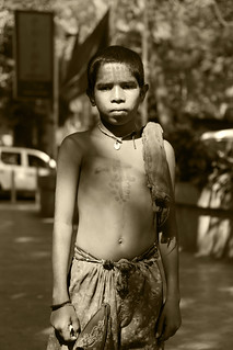 Portrait of a boy in Mumbai