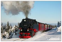 HSB - Brocken - 2003-01 (olherfoto) Tags: railroad train eisenbahn rail railway trains steam brocken bahn harz steamtrain narrowgauge dampflok dampfzug schmalspurbahn harzerschmalspurbahnen
