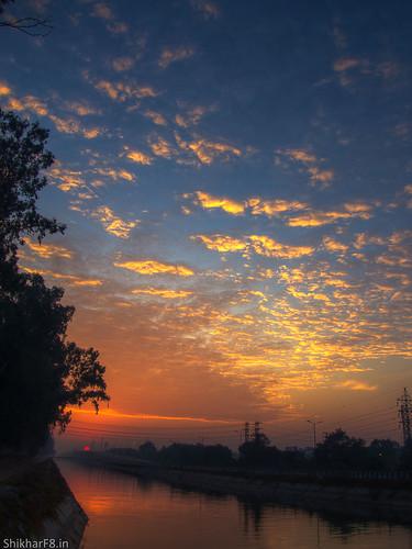 Sunrise at Sidhwan Canal, Ludhiana