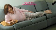 Nappy New Year (krislagreen) Tags: pink cd tgirl transgender pjs crossdress tg feminization tranvestite feminized