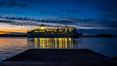 Let's Party! (Jens Haggren (mostly off)) Tags: olympus em1 ferry boat night sky colours lights reflections sea water pier sweden