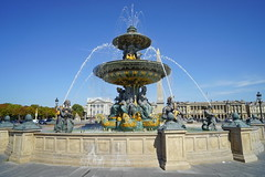 Paris Place de la Concorde Fountain 12.9.2016 3752 (orangevolvobusdriver4u) Tags: brunnen springbrunnen fountain 2016 archiv2016 france frankreich paris placedelaconcorde square platz