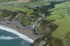 Port William on Trebarwith Strand and Treknow in the background - Cornwall aerial image (John D F) Tags: portwilliam trebarwithstrand treknow cornwall coast bay cliffs aerial aerialphotography aerialimage aerialphotograph aerialimagesuk aerialview