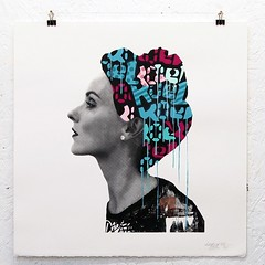 """Souls Apart"" (koeone) Tags: urbanart urbanfemales streetart stencils screenprint print edition mixedmedia spraypaint koeone koe1"