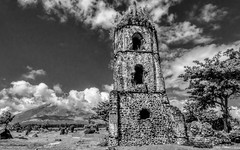 Cagsawa Ruins #5 (FotoGrazio) Tags: freetodownload composition decay travelphotography stonebuilding photographersinsandiego bicol clouds tourist spooking digitalphotography cagsawachurch volcano capture fotograzio legazpi contrast mysterious christian waynegrazio photography scenic photographicart architecture mayonvolcano stonestructure cagsawaruins freeimage worldphotographer ancient old landmark freepicture sandiegophotographer waynesgrazio church downloadforfree photoshoot coloful internationalphotographers albay artofphotography philippines flickr ethereal religion californiaphotographer mortar deterioration photographersincalifornia infrared travel architecturaldesign explore history deteriorate historical catholic tourism 500px blackandwhite
