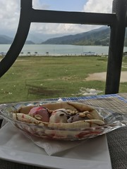 Banana split with view of Phewa Lake (albedo20) Tags: nepal pokhara public asia2016