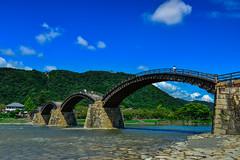 (DSC_2100) (nans0410(busy)) Tags: japan yamaguchi iwakuni nishikiriver archbridge kintaibridge outdoors scenery iwakunicastle bluesky