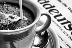 My daily routine (HMM) (matthiasstiefel) Tags: coffee espresso kaffee macromondays milch mydailyroutine newspaper tageszeitung milk süddeutschezeitung sz