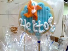 2014-11-21-1250 (Denise Chagas) Tags: pipa ch de beb babyshower azul e laranja biscoitos decorados bolo pasta americana