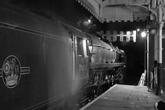 Nightime Duke (Nigel Valentine) Tags: 71000 duke gloucester bury bolton street east lancashire railway steam locomotive night