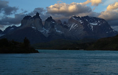 Lago Pehoe (Ignati) Tags: torresdelpaine chile mountains clouds sky patagonia outdoor mountain lake water sunset