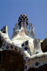 Barcelona (waielbi) Tags: barcelona barcelone casa milà roof toit ceramics mosaïc mosaïque gaudi spain espagne trencadis