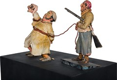 1960s Pirates of the Caribbean maquette - Prisoners and Pirate - side (Tom Simpson) Tags: piratesofthecaribbean disney disneyland 1960s vintage maquette sculpture pirate pirates imagineering vintagedisney vintagedisneyland
