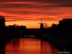 Sunset 22-11-2016 (kees.stoof) Tags: sunset zonsondergang amsterdam lozingskanaal funenkade funen gooyer molen mill