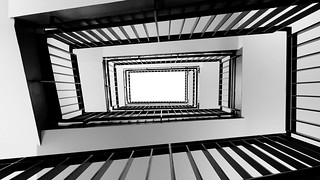 Berlin staircase in black and white