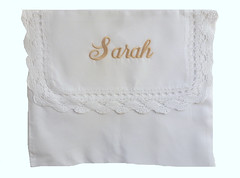 Personalized Lace Edged Lingerie Bag (initial_impressions) Tags: embroidered personalized lacededgedlingeriebag