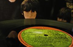"""John is missing ..."" (Kat-i) Tags: katharina macromondays beatlesbeetles schallplatte record vinyl musik music nikon1v1 kati 2016"