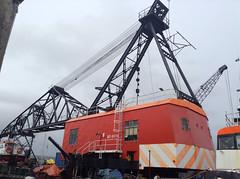 FALMOUTH. (RUSTDREAMER.) Tags: rustdreamer falmouth crane barge bd6074