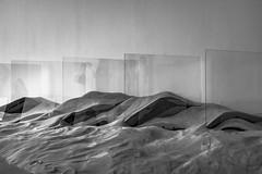 Figure in a reflection 0 (wwward0) Tags: art cc glass indoor manhattan moma monochrome museumofmodernart nyc reflection sand wwward0