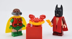 I can't wait for this ! part 2  (Alex THELEGOFAN) Tags: lego legography minifigures minifigure minifig minifigs movie minifigurine batman muscle robin red lobster fork dressing grow minifigurines dc comics super heroes food sea seafood mask pyjamas glasses the