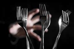 Creating a disturbance in the forks (katatomicuk) Tags: 60365 forks dof depthoffield i find your lack cutlery disturbing