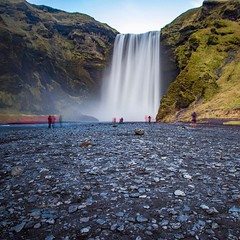 LE at Skógafoss Waterfall.