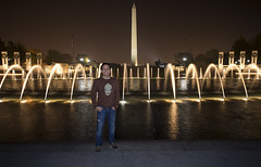 Not in Focus (Karnevil) Tags: usa washingtondc districtofcolumbia worldwarii worldwariimemorial memorial waterfountain washingtonmonument georgewashington obelisktower obelisk marble 555ft nightshot longexposure outdoors selfie ego me nikon d610 petekreps