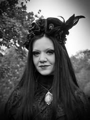Lady in black (ingrid eulenfan) Tags: wavegotiktreffen 2016 leipzig le wgt wave wgt2016 gothicfestival gothic gotik gotic gotica gotiche gotisches gothicanhänger schwarzeszene szene goths accessoires festival picknick clarazetkinpark frau woman lady blackandwhite schwarzweiss dark