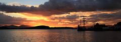 Oban Bay as Sunset, Argyll and Bute, Scotland, UK (Andy_Hartley) Tags: obanbay night argyllandbute scotland uk nightphotography littlebay bay sea gatewaytotheislands canon7d canon sigma sigma1770 skyline boats