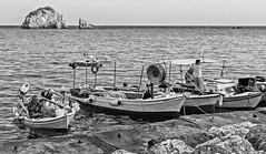 Local Fishing Boats - Parga Harbour ( Greek mainland)  (BW) (Canon EOS 7D & EF-S 17- 55mm f2.8 Zoom) (markdbaynham) Tags: greece parga harbour greek sea grecia greka hellas hellenic gr boats local canon eos canonite canonites 7d efs 1755mm f28 zoom