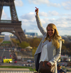 Can i take it ? (AbdelHadef) Tags: paris trocadero blond cute effeil tower sexy shooting