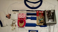 2nd Day at Shanghai Disneyland Haul (Suki Melody) Tags: minnie mouse velco hair clip maximus tangled key chain charms lotso strawberry pink socks kawaii toy story r2d2 star wars shirt robin hood figure figurine rooster alanadale hot toys kylo ren disney disneyland merchandise shopping stores haul shanghai park china limited edition garden 12 friends twelve