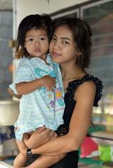 young mother with daughter (the foreign photographer - ) Tags: pretty young mother daughter khlong lard phrao portraits bangkhen bangkok thailand nikon d3200