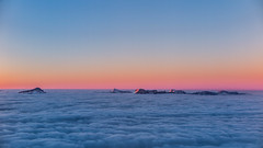 Sunset on the cloud sea, the Chartreuse archipelago (rob.bonnet) Tags: chartreuse chamrousse sunset archipelago clouds sea cloudsea