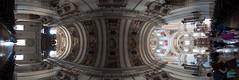 Ceiling Panorama (Sebastian Niedlich (Grabthar)) Tags: panorama salzburg church austria österreich nikon cathedral dom kirche sigma fisheye d90 salzburgcathedral salzburgerdom grabthar sebastianniedlich nikond90 sigma10mmf28exdcfisheye