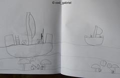 "Imaginary ""Angry Birds"" scene by  my 6 yo son (cod_gabriel) Tags: drawing son dessin dibujo filho fiu tegning desenho disegno hijo fils zeichnung tekening sohn figlio  teckning rysunek rajz piirustus   desen menggambar"