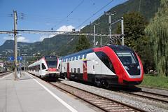 Twindexx und Flirt in Villeneuve (eisenbahnfans.ch) Tags: suisse flirt villeneuve bombardier vaud vil probefahrt stadler testfahrt sbbcffffs stadlerrail rabe523 twindexx fvdosto rabe502
