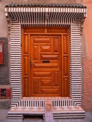Doorway (melita_dennett) Tags: africa door old city geometric architecture design town patterns north el historic doorway morocco moorish marrakech medina ornate fna jemaa djema elfna djemaa elfnaa