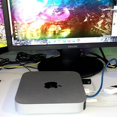 Squeee! Look what I won on eBay for my birthday. I didn't know it was local until after I won her last night. Her name is Sarah Jane, in keeping with a Doctor Who theme I have going. I picked her up this morning. #macmini  #happy  #geek #drwho