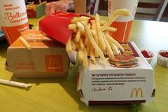McDonalds Food 9-6-15 01 (anothertom) Tags: new food chicken table restaurant fastfood sandwich iowa fries williamsburg tanger sonyrx100ii quarterpounderdeluxe buttermilkcrispychicken