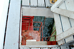 Hatch to lower level (Throwingbull) Tags: city light lighthouse house history station museum stairs point screw bay coast tour thomas hexagonal guard steps historic step pile maritime hatch annapolis chesapeake shoal 1875 screwpile