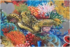 Turtle (Mabacam) Tags: ocean sea streetart london wall graffiti stencil mural underwater turtle environmental wallart urbanart shoreditch environment freehand publicart masai aerosolart corals spraycanart stencilling eastend 2015 urbanwall louismasai
