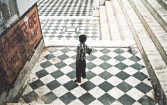 ghat - analogue (Stefano☆Majno) Tags: city india lake travelling film lines analog photography lomo lomography asia child mju geometry olympus 200 sacred analogue expired pushkar wandering squared rajasthan stefano reportage ghat filmisnotdead kodakcolor majno lomofilm