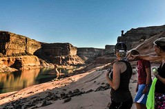 Early Morning Hike on the Sandstone in Last Chance Bay, Lake Powell. 14August2015 (jssutt) Tags: arizona utah houseboat familyreunion waterplay lakepowell waterski familyvacation watertoys wahweap pageaz jeffsuttlemyre lakepowell15 lakepowell15all